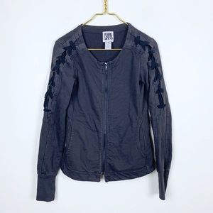 Prairie Underground Lace Up Sleeve Knit Jacket